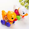 Toddler Kids Baby Toys Traditional Pull Along Duck Plastic Toys For Children Kids Baby Learn Walk Educational Toy Rattles Random