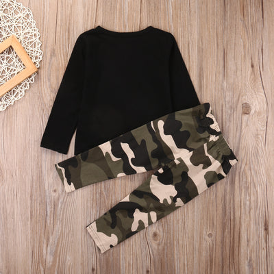 Baby Clothing Sets Newborn Infant Baby Boy Girls Letter camouflage Clothes T-shirt Tops +Camouflage Pants Outfits Set