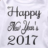 4Pcs Happy New Year baby clothing Set Baby Girls Boy Infant Long Sleeve Romper +Pants Leggings+Hat +headband Outfit Clothes