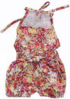0-24M Newborn Infant Baby Girl Sleeveless Lace patchwork Floral Romper Backless Belt Jumpsuit Outfits Sun-suit Clothes