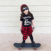 Toddler Baby Boys Girls Kid Child Black Short Sleeve Casual Cotton Tops T-shirt Shirts Clothes 2-6 Years