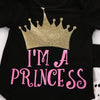 born baby girl clothing set Cute Kids Baby Girls Crown Tops Rompers Pants Leggings Outfits