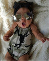 born Infant Baby Girl Romper Sleeveless Belt Romper Jumpsuit Clothes Outfits Camouflage Set