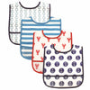4pcs/lot baby & kids Water Resistant Fruit & Veggie PEVA bibs baby boys girls Bibs