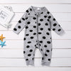 Unisex born Baby Boys Girls Polka Dots Long Sleeve Romper Zipper Jumpsuit Outfits Set Clothes