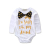 2pcs/Set Newborn Baby Girls Clothes Cotton Long Sleeve Romper + bow-knot Headband Jumpsuit Play suit Outfits