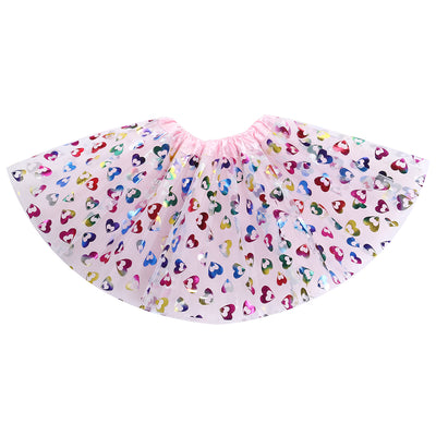 Children Kids dance skirt tutu skirt gauze sequin skirt children princess Colorful Skirt  Age 2-8Y