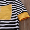 Autumn Newborn Kids Baby Boy Long Sleeve Romper Striped Cotton jumpsuit Clothes Outfits