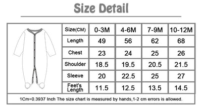 Baby Pajamas Baby Romper Infant Jumpsuit Overall Long Sleeve Body Suit Baby Clothing for Winter/Spring