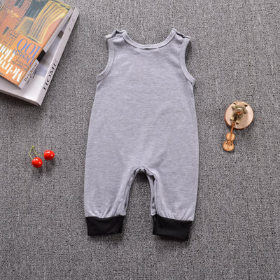 Cute Newborn Infant Baby Boy Girl Panda Romper Sleeveless Cotton Jumpsuit Clothes Outfits