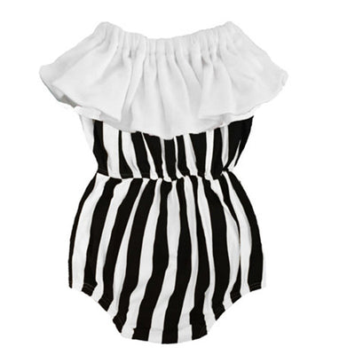 Summer Kids Baby Boy Girl Infant Summer Striped Romper Jumpsuit Cotton Clothes Sun suit Outfits