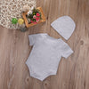 2Pcs/Set Cotton Newborn Infant Baby Boy Girls has entered the game Romper Jumpsuit Clothes Outfits