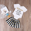 born Baby Girl Clothing Set Baby Girls Short Sleeve Romper Striped Skirt Jumpsuit Clothes Outfits