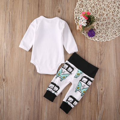 Newborn baby boy clothes Kids Baby Boy Girl Infant Long Sleeve Romper +pants newborn toddlers baby clothing