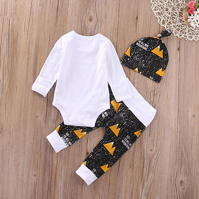 Newborn toddlers baby clothing set Baby Boy Girl Outfits Romper Pants Hat Leggings Clothes