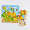 Cute Cartoon Animal Wooden Intelligence Kids Educational Baby Toys Gift Brain Teaser Children Shapes