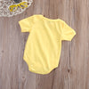 Newborn Kids Baby Girls Infant Clothes Short Sleeve Rompers Cotton Jumpsuit