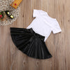 Summer Kids girls clothes Casual Clothing Sets Baby Girls Kids Clothes Set T Shirt+Short Mini Skirts Girl Outfits