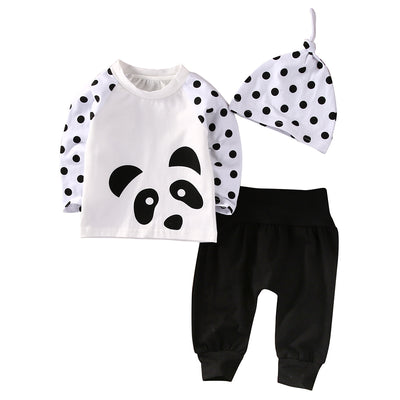 Newborn Baby Boys Girls Clothes Tops T-Shirt Pants Leggings Hat Outfits 3 PCS newborn baby suit children clothing