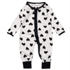 Cotton born Baby Girl Boy Clothes Long Sleeve Dot Heart Romper Jumpsuit Outfits