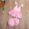 Baby Girl Clothes Clothing Sets Newborn Infant Baby Girls Tops T-shirt Short Pants Outfits Set Clothes