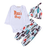 Baby Clothing Sets Mom's Boy Infant Baby Boy Girl Outfits Clothes Romper Pants Leggings 3 PCS Set