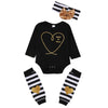 3pcs/Set! baby sets Christmas Newborn Kids Baby Boy Girl Infant Long Sleeve Romper +warm legging +headband Clothes Outfit Set