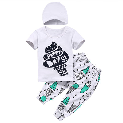 Baby Boys girls clothes Casual Clothing Sets Newborn Toddler Kids Baby Boys Girls Set Outfits Clothes T-shirt +Pants New