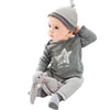 baby boy clothes  Spring Autumn baby boy clothing sets Stars print T-shirt Pants Hat  3pcs for Baby Rompers