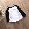Autumn Fashion Girls Kids Baby Letter 3D Printed Cotton Long Sleeve Tops Shirts T-shirt Clothes 0-5T