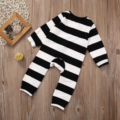 Baby Kids Boy Girl Long Sleeve Striped Romper Cotton Jumpsuit Outfit Clothes