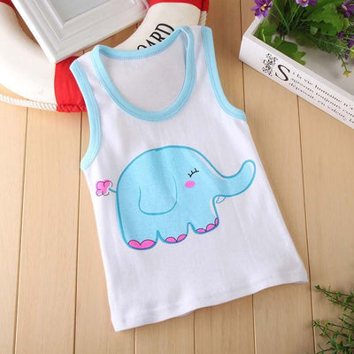 New cartoon boys and girls tanks children's vest harness cool rabbit chicken cute baby clothing