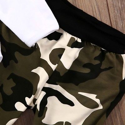 Baby Boys clothing sets Cute Newborn Kids Baby Boys Clothes Romper Tops Camouflage Pants Hat Outfits