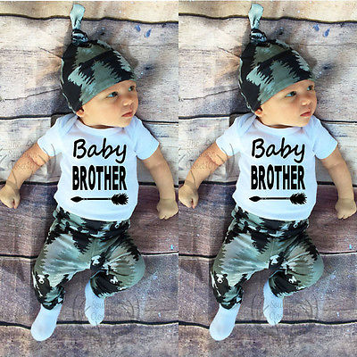 3Pcs/Set !Baby Clothing Set Newborn Baby Boy Girl Long Sleeve Tops + Pants + Hat 3PCS Outfits Set Clothes