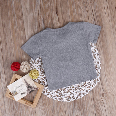 Newborn Kids Summer Clothes Baby Boy Girl Short Sleeve Letter Printed T Shirts Outfit Tops Tee
