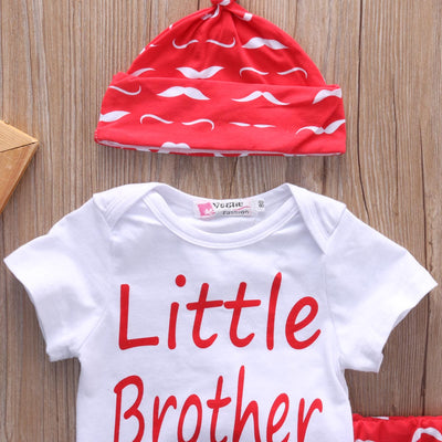 Baby Clothing Sets Cute Newborn Baby Girl Boy Outfits Clothes Cotton Romper Bodysuit 3PCS Set 0-18M