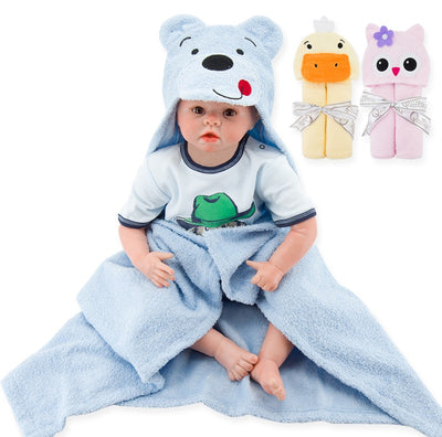 Limited Children's Underwater Animals Baby Hooded Bathrobe Cotton Terry Infant Kids Bathing Wrap Robe Toddler-sized