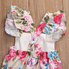 Summer Floral Newborn Baby Girl Clothes Floral Romper Ruffles Sleeve Toddler Kids Jumpsuit Outfits Sunsuits Halter
