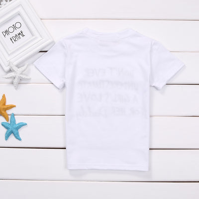 Summer Toddler Infant Kids Baby Girls daddy Short Sleeve Cotton Printed T-shirt Tops