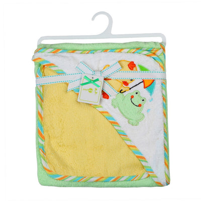 Hooded Animal modeling Baby Bathrobe/Cartoon Baby Towel/Character kids bath robe/infant bath towels +baby washcloths set