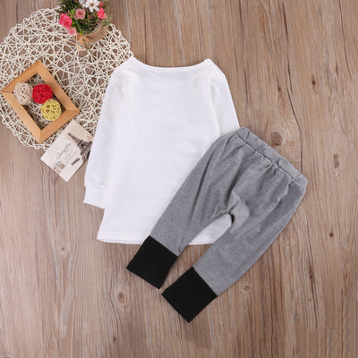 2pcs Kid Girls Boys clothing set autumn Toddler Kids Baby Outfit Star T-shirt Tops+Long Pants Leggings Clothes Set