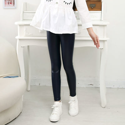 aa85f40acd97b High quality Girls Faux Leather Leggings Children Pants Leather Girls Pants