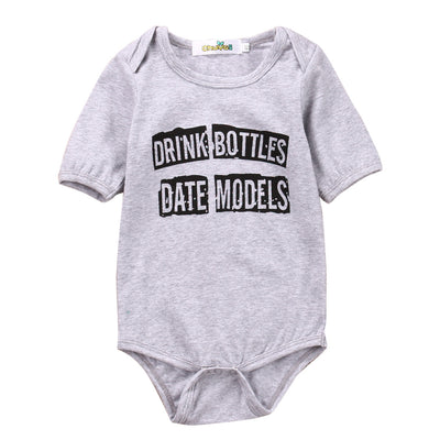 Newborn Baby boys girls letter Bodysuits one size Infant Babies Boy Girl Cute Cotton Bodysuit one-pieces Outfits Kids Clothing