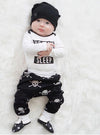 2 Pcs Babies Clothing Set born Baby Kids Girl Boy Outfit Infant Kid Bodysuit Onesie+Skull Pants Xmas Outfits Clothing Set