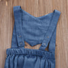 born Infant Baby Girl denim Romper Backless Jumpsuit Outfit Sun suit Clothes