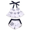 born baby Girls Clothes Set Tank Top T-shirt Sleeveless Belt Shorts Infant Cute Clothing Baby Girl 2pcs Outfit Set