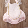 Baby Girls Lace Hanging Belt Romper Jumpsuit Skirts Dress Sun suit Outfits Costume