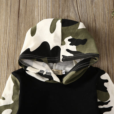Autumn style infant clothes baby clothing sets Baby Boys Camouflage Hoodie Tops Long Pants 2Pcs Outfits Set Clothes