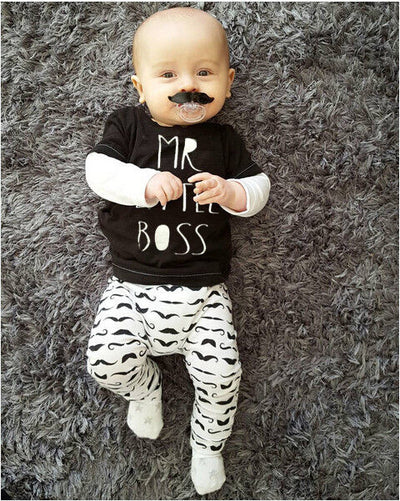 Baby Clothing Sets suits Newborn Baby Boy Clothes Tops T-shirt+Pants Leggings Outfits
