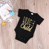 born Baby Boys Girls Kid Short Sleeve Cotton Rompers Arrow letters Jumpsuit Outfits Clothes